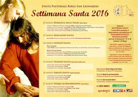 programma settimana santa 2016 parrocchia un tempo favorevole alla conversione il programma della