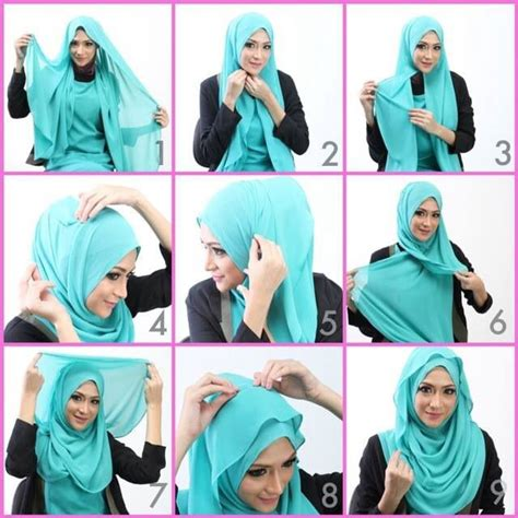 foto tutorial jilbab pashmina simple 17 best images about womens beauty hijab on pinterest