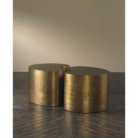 Pinta Modern Brass Bean Coffee Table Small Kathy Kuo Home Coffee Bean Table