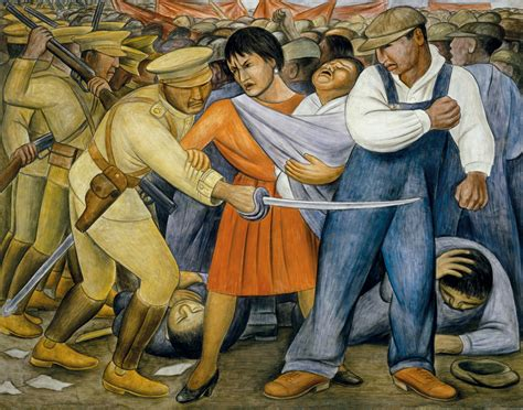 imagenes figurativas no realistas de diego rivera the uprising murals for the museum of modern art