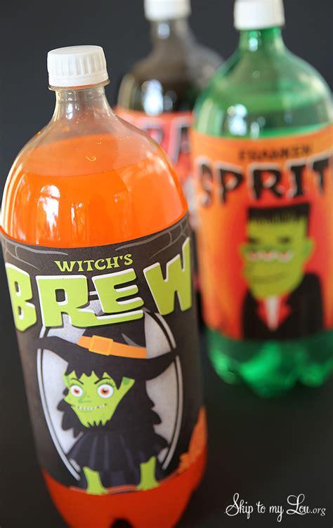 printable halloween bottle labels skip   lou