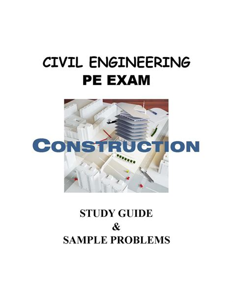 study guide   construction portion   civil engineering pe exam setzer media group