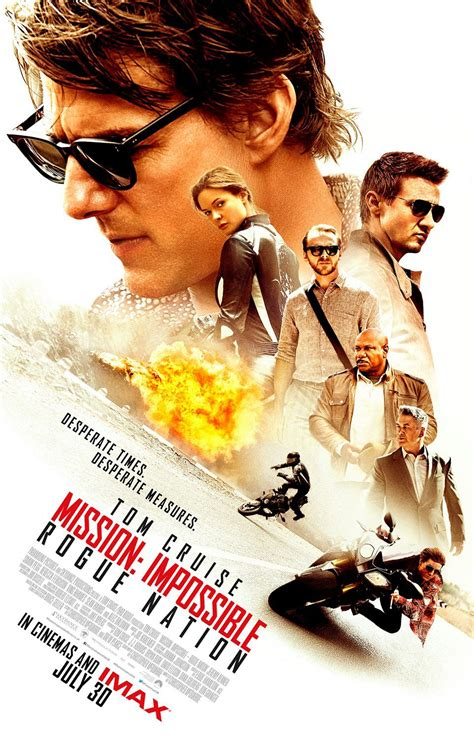 Poster Mission Impossible Rogue Nation 20x30cm Mission Impossible Rogue Nation Blackfilm Read