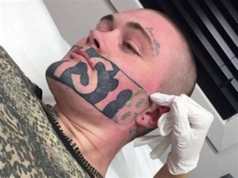 tattoo lasering cost man with devast8 face tattoo decides to keep it after