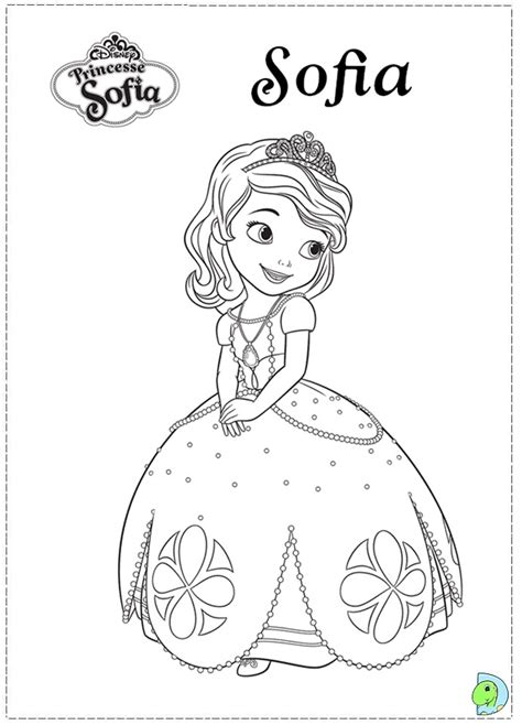 sofia the first coloring page dinokids org