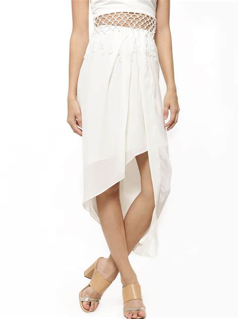 buy new look wrap front midi skirt for s