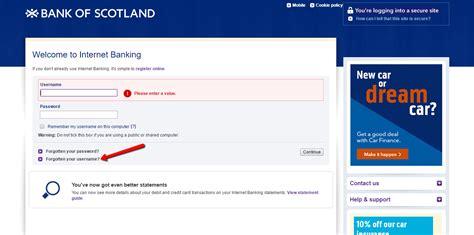 bank of scotland login banking bank of scotland banking login cc bank