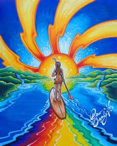 Eclecticism Painting Story Maiden Of Lake Jocassee And Eclectic Sun