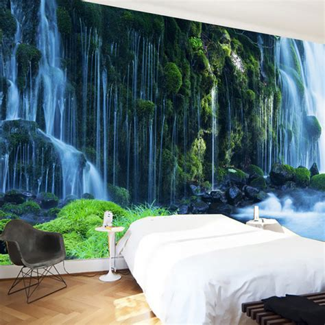 classic landscape wallpaper custom 3d wallpaper classic waterfall nature landscape