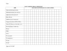 nursing assessment template best photos of nursing home maintenance checklist