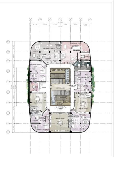 construction office layout plan high rise residential floor plan google search