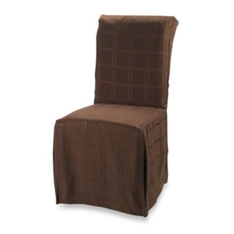 Buy Dining Chair Covers Origins Microfiber Dining Room Chair Cover In Chocolate