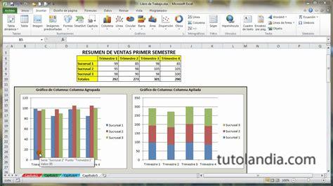 tutorial excel graficas 2010 excel 2010 basico 5 1 tipos de gr 225 ficos youtube