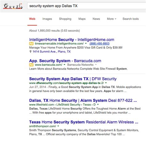 home security seo security system app dallas tx