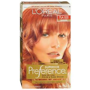 loreal auburn hair color loreal preference hair color lightest auburn 7la 1ea