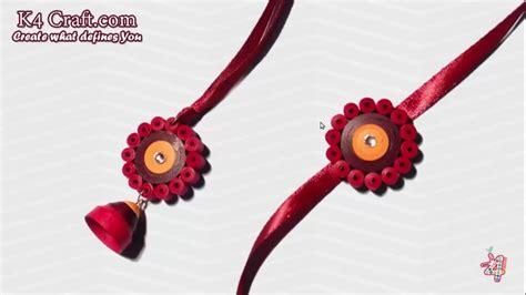 quilling rakhi tutorial diy paper quilling pair rakhi making tuturial for