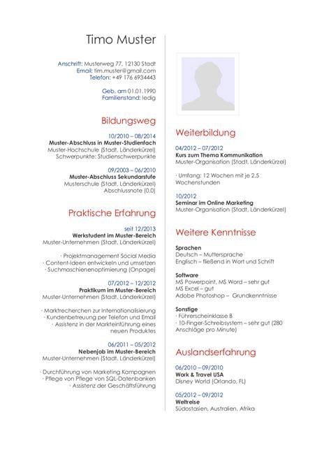 Lebenslauf Muster Initiativbewerbung Initiativbewerbung Muster F 252 R Publisher Lebenslaufdesigns De