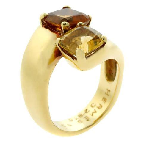 Hermes Ring Gold hermes citrine crossover gold ring for sale at 1stdibs