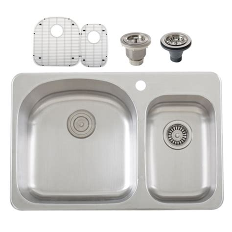 overmount kitchen sinks stainless steel ticor s997 overmount 18 stainless steel bowl kitchen sink accessories