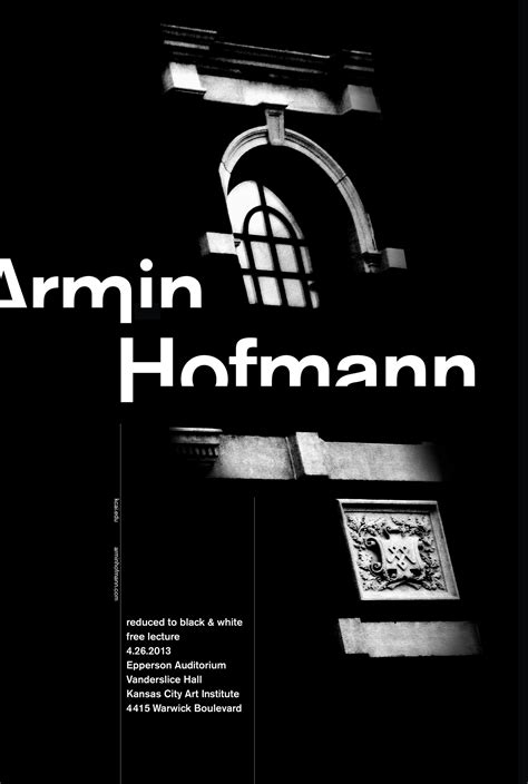 Armin Hofmann Poster on Behance