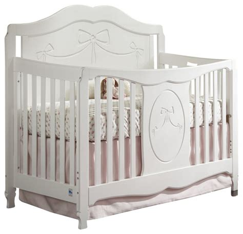Baby Crib Side Bed Storkcraft Princess Fixed Side Convertible Crib In White Transitional Cribs By Cymax