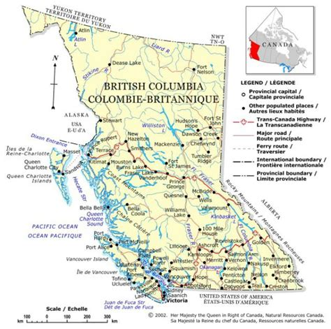 Bc Canada Map by Canada Provinces