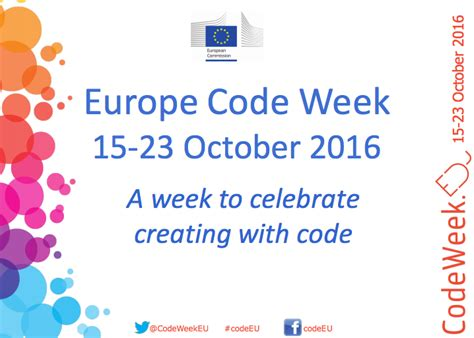 coding week join the europe code week movement oct 15th 23rd coderdojo