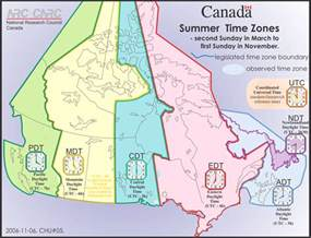 time zone map canada and usa local timezones in canada