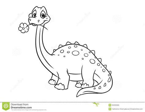 Dinosaur Apatosaurus Coloring Pages Stock Photo   Image