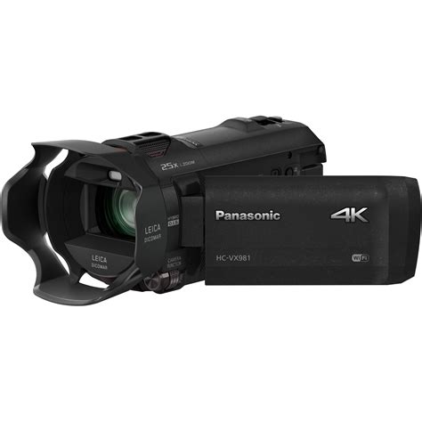 4k panasonic panasonic hc vx981k 4k ultra hd camcorder hc vx981k b h photo