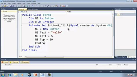 pattern programs in c using array visual basic express 2010 tutorial 40 dynamically making
