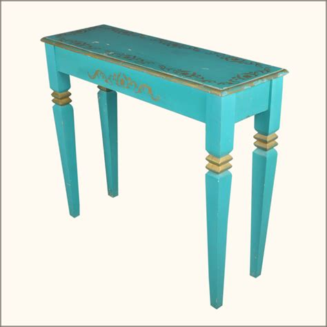 Blue Entryway Table Oklahoma Farmhouse Blue Distressed Rustic Entry Way Console Foyer Table New Ebay