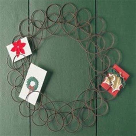 copper christmas card holder creative card display turn clutter into decorations day 20 of 31 days to take the