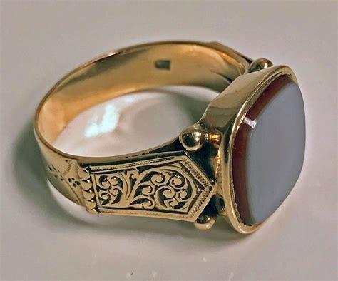Gelang Kulit Signet Leather Bracelet 14 antique gold gentleman s signet ring austria circa 1890 for sale at 1stdibs