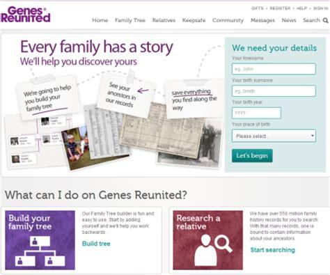 Genes Reunited Birth Records Best Family History Websites Digital Unite