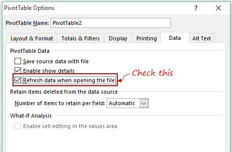 excel 2007 pivot table format changes on refresh excel copy pivot table to another sheet refresh pivot
