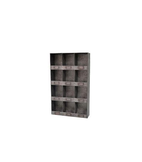 etagere zink 201 tag 232 re murale 12 casiers en zinc wadiga