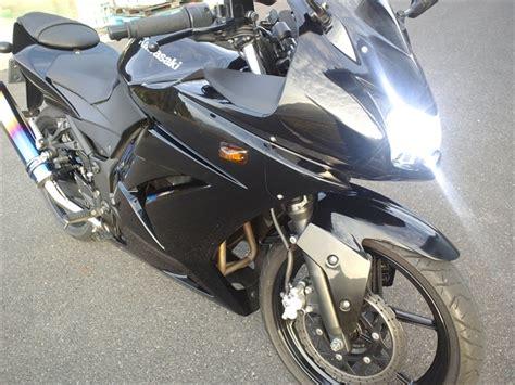 Lu Hid Kawasaki 250 黒ninja黒鉄君と黒忍乗り ninja250r スフィアライト hid 取付