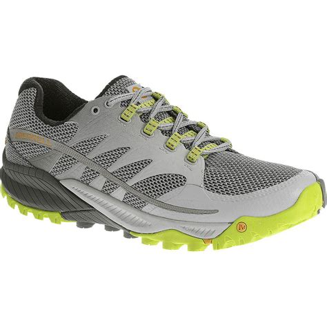 merrell sports shoes merrell all out charge mens grey trail running sports