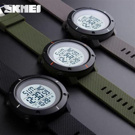 Jt0122 Jam Tangan Pria Skmei Sport Digital Silicone 1 skmei jam tangan digital pria dg1213 army green jakartanotebook