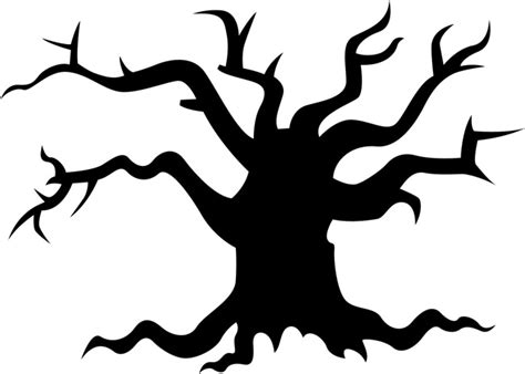 spooky tree pumpkin template scary tree stencils stencilease