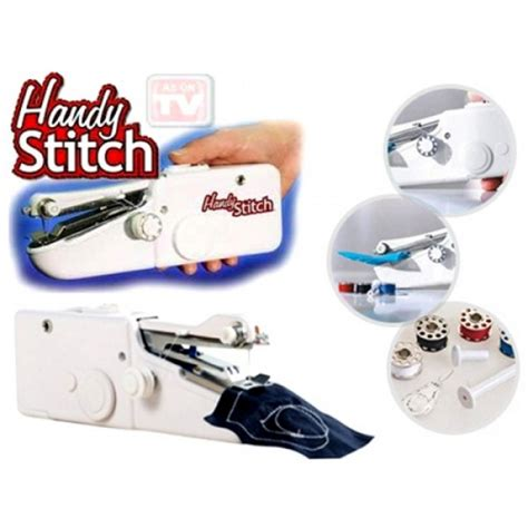Handy Stitch Portable Handheld Sewing Machine Mesin Jahit L88c handy stitch cordless portable sewing machine stapler mini held ebay