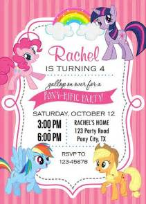 my pony invitation printable birthday by tweetprints my pony and
