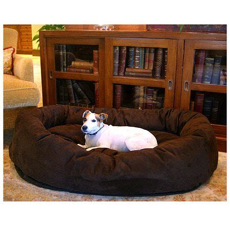 majestic pet bagel bed majestic pet products bagel dog pet bed 52 inch chocolate