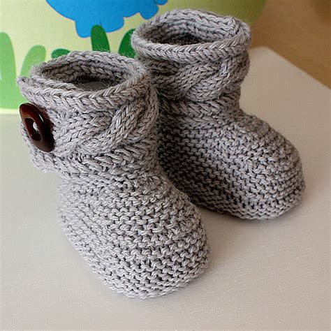 knitted baby boots pattern slip knit pass