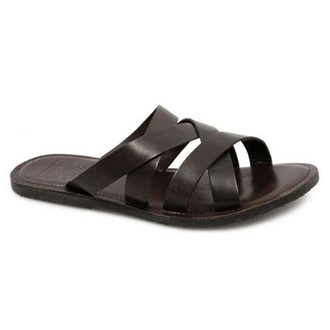 brown slide sandals buy jones byron slide sandal mens leather sandals