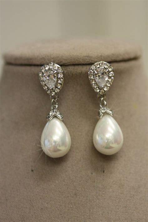 Braut Ohrringe Perlen Ohrringe Hochzeit Simplychic93 by 25 Best Ideas About Pearl Drop Earrings On
