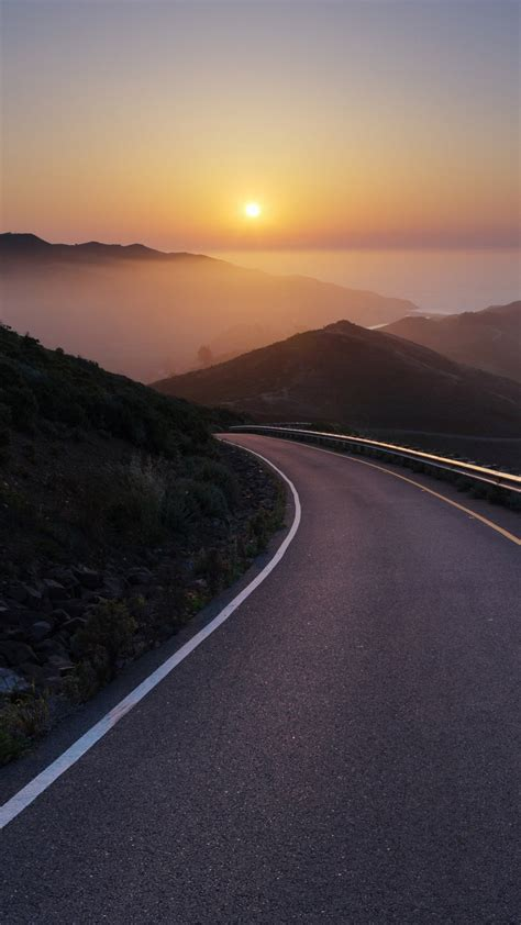 conzelman road sunset turning road sea piclect