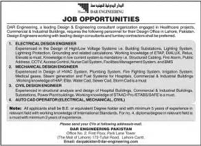 Work From Home Design Engineer Jobs by Design Engineer Job In Dar Engineering Electrical