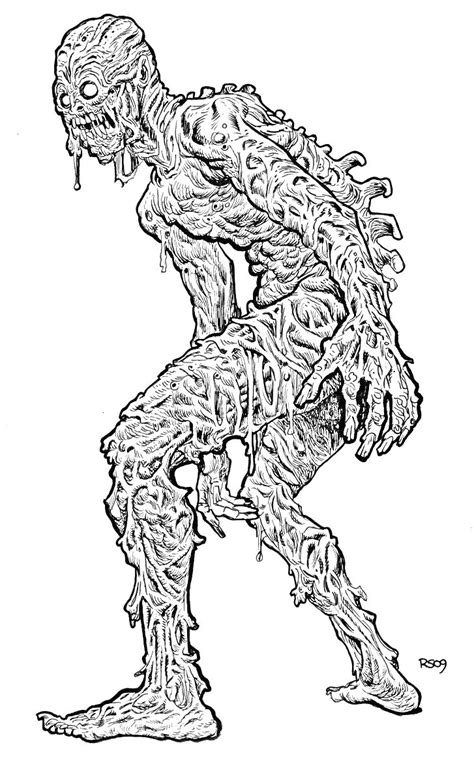 scary monsters coloring pages for adults scary best free
